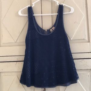 Super soft tank with lace